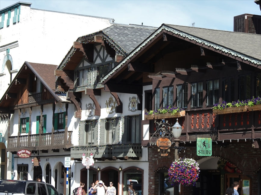 Bavarian-style buildings in Leavenworth, WA