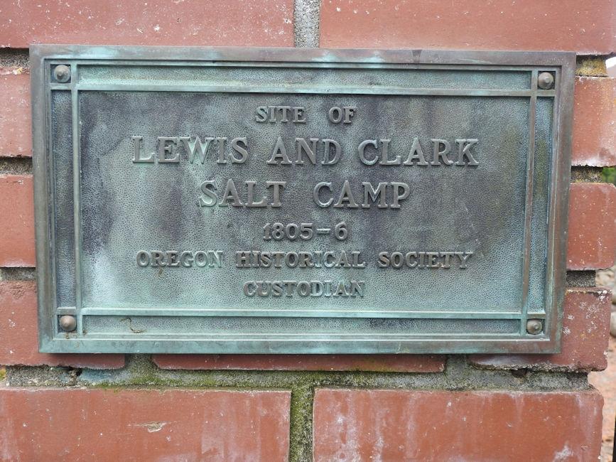 Lewis & Clark's Salt Works sign in Seaside, OR