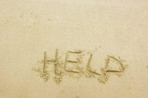 Help text on sand